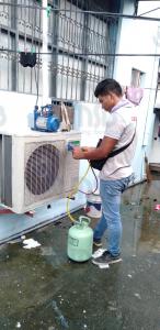 aircon freon charging