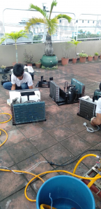 window type aircon cleaning