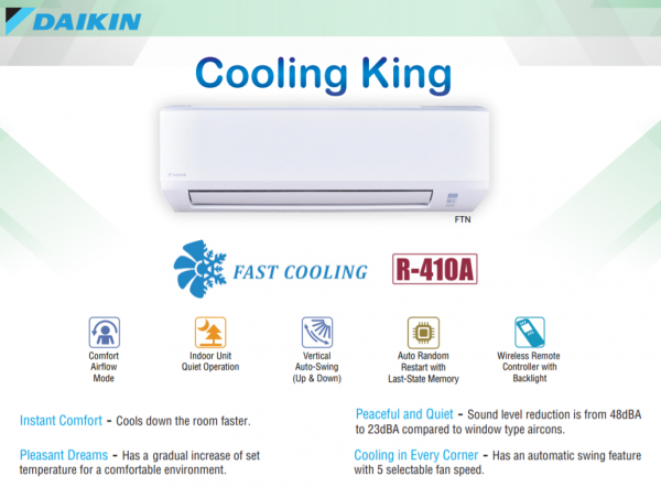 Cooling King features