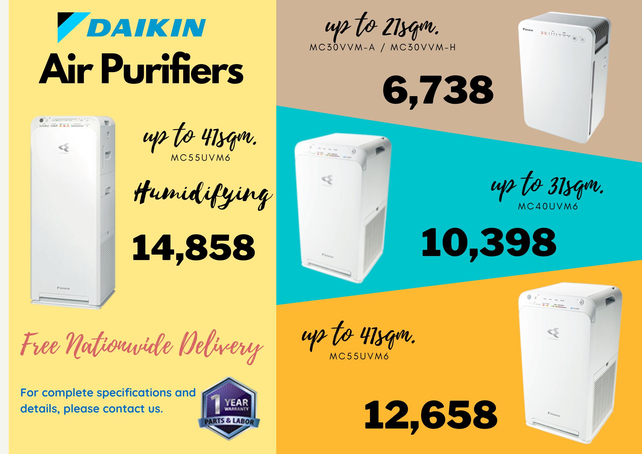 Daikin air purifier price list
